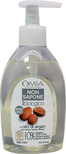 OMIA Non Sapone Igiene Mani&Viso Eco Biologico Argan 300 Ml