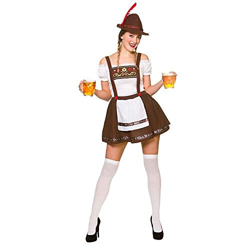 Erwachsene Damen bayerischen Oktoberfest Bier Maid Fancy Dress Kostüm (M - - Oktoberfest Fancy Dress Kostüm
