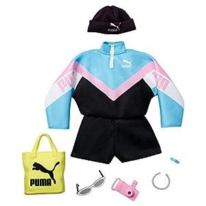 Barbie Pack de Moda Puma con Cazadora deportiva y Accesorios (Mattel Gjg31)