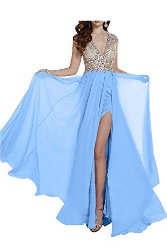 Missdressy -  Vestito  - linea ad a - Donna blu - cielo blu