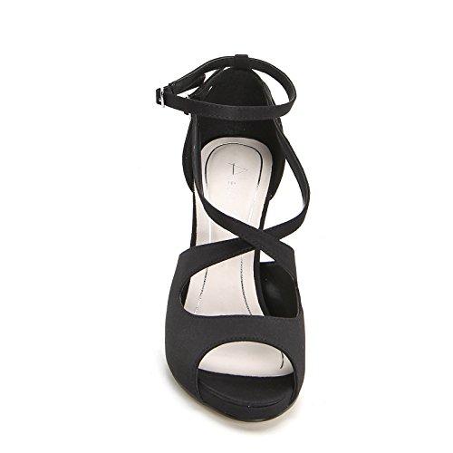 ALESYA by Scarpe&Scarpe - Sandalen mit Absatz mit überkreuzten Mignon-Riemchen Schwarz
