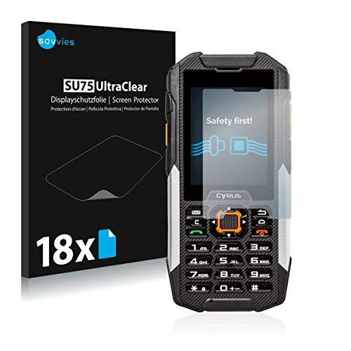 18x Savvies SU75 UltraClear Bildschirmschutz Schutzfolie für Cyrus cm 16 (ultraklar, mühelosanzubringen)