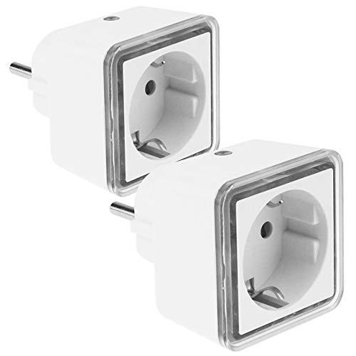 Preisvergleich Produktbild GRUNDIG - 2 x LED - Nachtlicht - eckig,  weiß,  Steckdosen Zwischenstecker mit Helligkeitssensor,  6 x 6 cm (BxH)