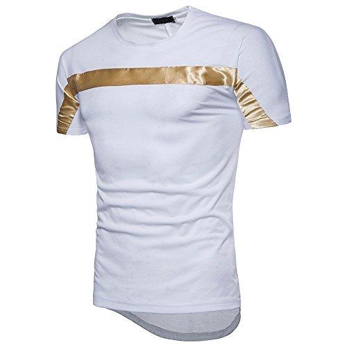CICIYONER Herren T-Shirt Kurzarm Shirt Mit Streifen Und Rundhalsausschnitt tshrits Sportshirt M L XL...