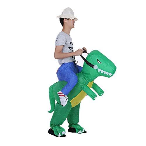 Anself Aufblasbares Kostüm Carry-me Huckepack Dinosaurier Cosplay für Fasching Erwachsene / Kinder ()