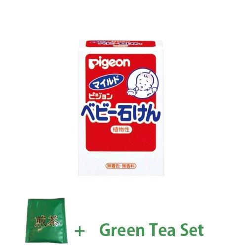 baby-japan-pigeon-mild-baby-soap-90g-green-tea-set