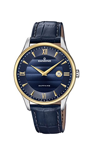 Candino Mens Analogue Classic Quartz Watch with Leather Strap C4640/3