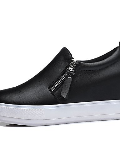 ZQ Scarpe Donna - Mocassini - Ufficio e lavoro / Formale / Casual - Plateau / Creepers - Plateau - Sintetico - Nero / Bianco , white-us8.5 / eu39 / uk6.5 / cn40 , white-us8.5 / eu39 / uk6.5 / cn40 white-us5 / eu35 / uk3 / cn34
