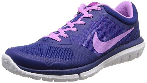 Nike Wmns Flex 2015 Rn, Scarpe sportive, Donna, Multicolore (Dp Ryl Bl/Fchs Glw-Fchs Flsh-W), 38