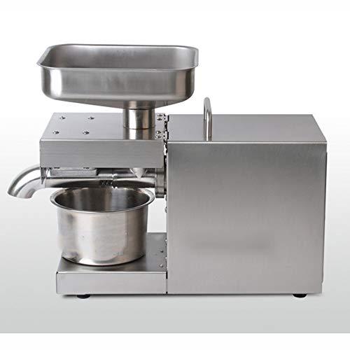 QWERTOUY Máquina de Aceite de Prensa en frío automática de 110V / 220V, máquina de Prensa en frío de Aceite, Extractor de Aceite de Semillas de Girasol, Prensa de Aceite 1500W