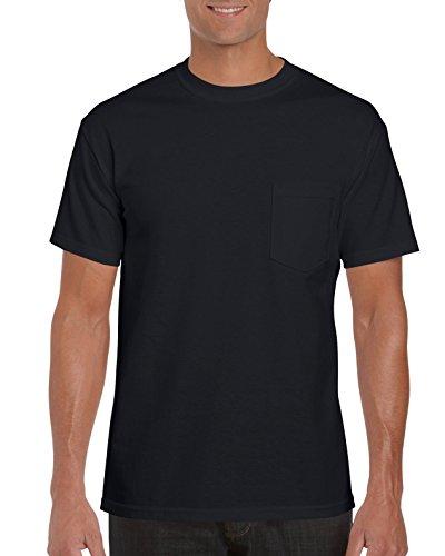 Gildan Men's 2-Pack Workwear Pocket T-Shirt, Black, XXX-Large (T-shirts Pocket Gildan)
