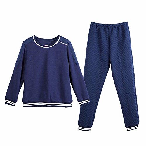 l'autunno e l'inverno lo sport a maniche lunghe quanto riguarda l'abbigliamento da notte a casa abito di cotone M