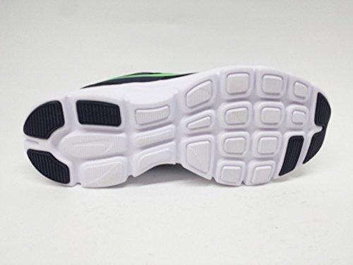 Nike Flex Experience Leather 631496 Jungen Laufschuhe Training Negro / Verde (Obsidian / Voltage Green-White)