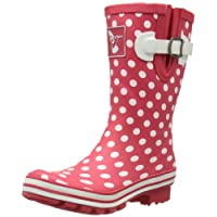 Evercreatures Womens Polka Dot Short Wellington Boots