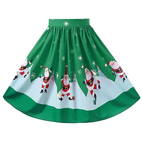 Frau Sexy Weihnachten Rock, Quaan Weihnachtsmann Aufflackern elastisch Hoch Taille Cosplay Ball...