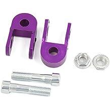 sourcingmap® Amortiguador de motocicleta extendedor 2 piezas púrpura altura ATV