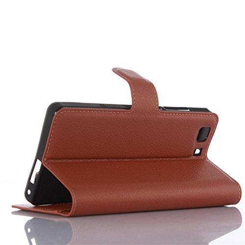 ANNN® DOOGEE X5/DOOGEE X5 Pro Étui, Portefeuille en cuir Luxe PU de protection Folio Cas Cover Wallet Case coque étui à rabat avec Fonction Stand et Fentes de Carte de Crédit + Quill stylet + Pendenti A09