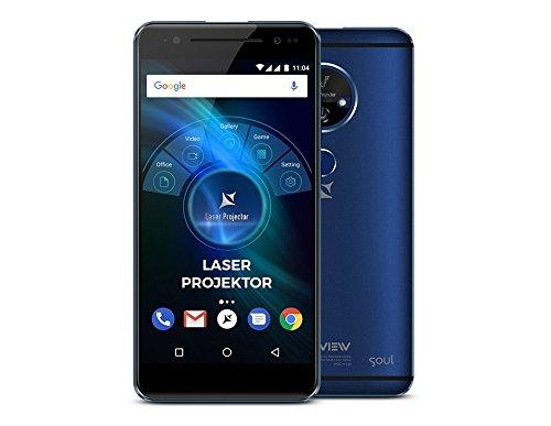 32 Mb-laser (Allview X4 Soul Vision 5.5 Zoll Smartphone mit integriertem Laser BEAMER bis 200 Zoll, Fingerabdrucksensor, 32 GB Flash, Dual-Sim, Android 7.0, 3 GB RAM, OctaCore - WELTNEUHEIT)