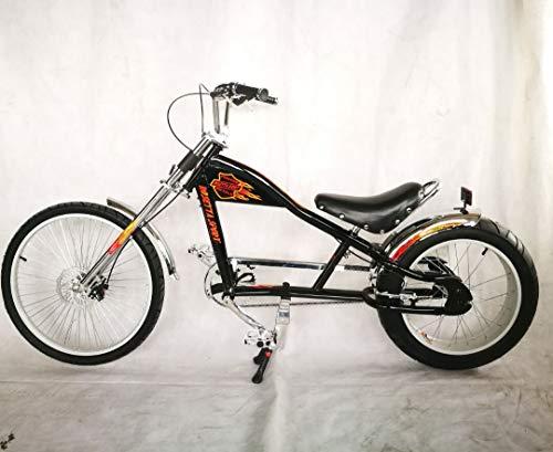 Rosetta Sport LA Fahrrad Lowrider MO Chopper Bike Harley Cycle Cruiser M Schwarz