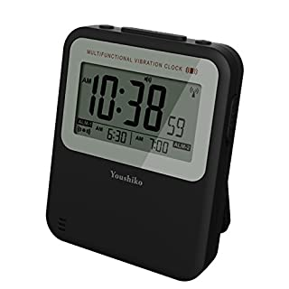 Youshiko Multifuction Radio Control (UK Version) Silent Vibrating Dual Alarm Clock