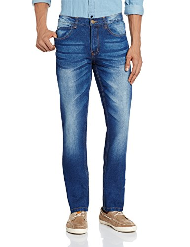 Newport Men's Slim Fit Jeans (8907542142200_269262847_32W x 32L_Blue Mid Stone)  available at amazon for Rs.599