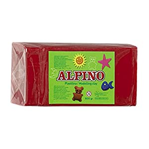 Alpino DP000071 – Plastilina, color rojo