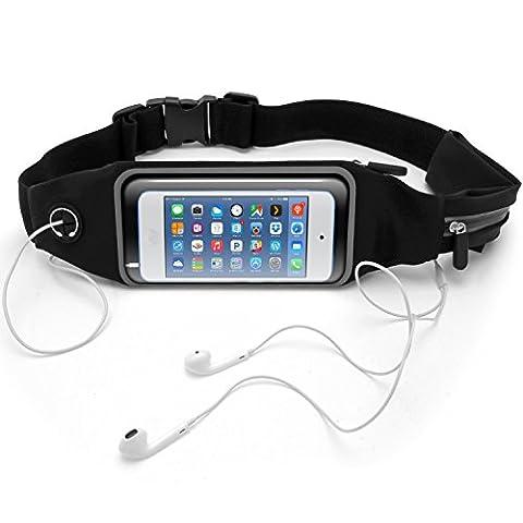 igadgitz Ceinture de Course Résistant a L'eau Waistpack Sportive Fitness pour Apple iPod Touch 4ème, 5ème, 6ème Génération