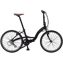 Dahon Briza i3 bicicleta plegable de 3velocidades, 24pulgadas, negro, de aluminio