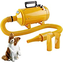 Topwill Secador de Cabello Profesional Secador Perro, Secador de Pelo Ajustable Velocidad del Viento y