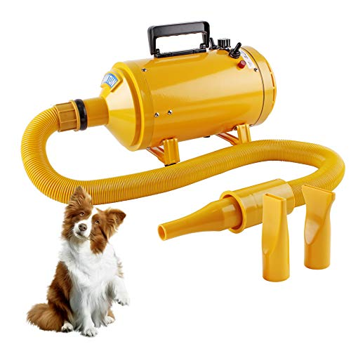 Topwill Secador de Cabello Profesional Secador Perro, Secador de Pelo Ajustable Velocidad del Viento y Rango de Temperatura para Peluquería Secador de Mascotas Secador de Pelo (2600W)