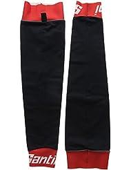 Santini 365 Be Hot - Manguitos de ciclismo para hombre, color rojo, talla XS/S