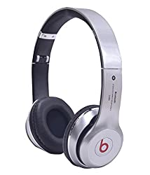 Defloc Defloc S460 BLUETOOTH WIRED & WIRELESS HEADPHONES WITH TF CARD/MIC/FM SUPPORT - Silver