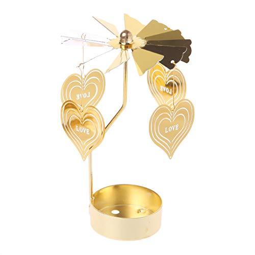 hoxin Drehkarussell Teelichthalter Kerzenhalter Ständer Licht Geschenk Hochzeit Dekor L -