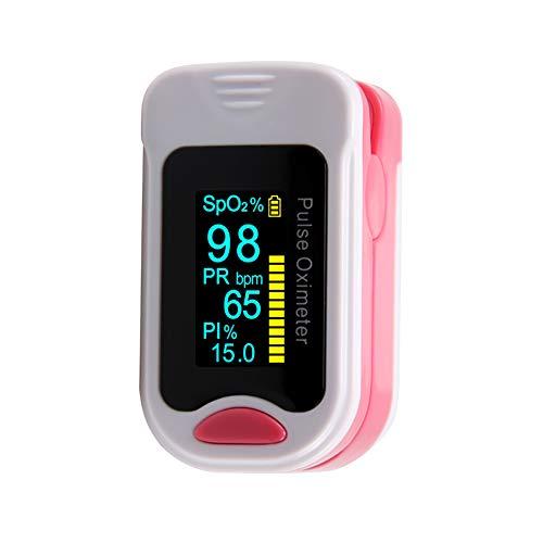 XKRSBS Fingerspitzen-Pulsoximeter Finger-Pulsoximeter-Home-Puls Sauerstoffsättigungsmesser Pulsoximeter Finger-Pulsoximeter,Pink