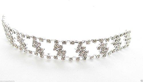 Argent Diamante Cristal Vintage Diadème de mariée Prom de mariage Deco cheveux J77 * * * * * * * * exclusivement vendu par – Beauté * * * * * * * *