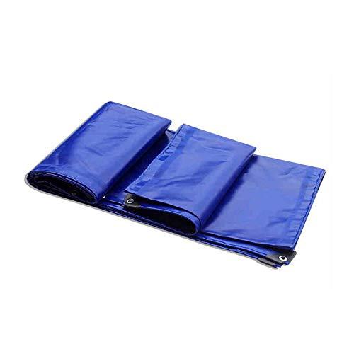 TIDLT Verdickte Regendichte Tuch-Plane Drei Anti-Tuch Markisentuch PVC Beschichtete Tuch-Auto-Plane Beschichtetes Segeltuch-Blau