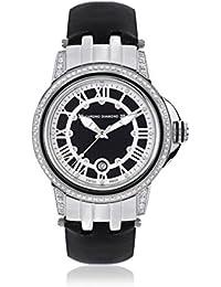 Chrono Diamond 82072_schwarz-43 mm - Reloj para mujeres, correa de cuero