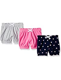 Amazon Essentials - Pack de 3 pantalones bombacho para niña