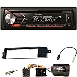 Pioneer DEH-S3000BT Autoradio USB Aux 1-Din CD iPod MP3 Bluetooth WMA Einbauset für BMW 3er E46