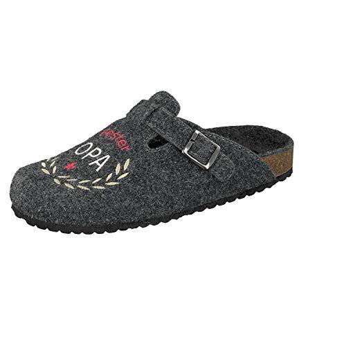 Supersoft Herren 511 077 Pantoffeln, Grau (Dk. Grey 254), 40 EU