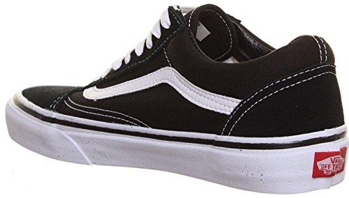 M1 Vans Old Skool - Sneaker uomo, per lo skate, in tela, stringate, colore: Nero/Blu/Bianco Nero (Nero/Bianco)