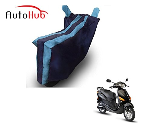 Auto Hub Bike Body Cover For Hero Electric Optima - Black Blue  available at amazon for Rs.275