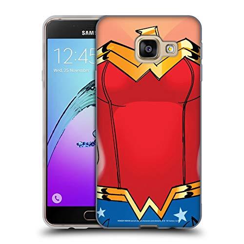 Head Case Designs Offizielle Wonder Woman DC Comics Kostuem Logos Soft Gel Huelle kompatibel mit Samsung Galaxy A3 (2016)