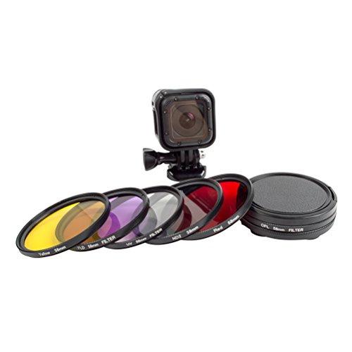 LEDMOMO 6 stücke 58mm Kamera Objektiv Filter PCL UV FLD ND2 Filter Sets Objektiv Zubehör für Gopro 4 Session 5 Sitzung