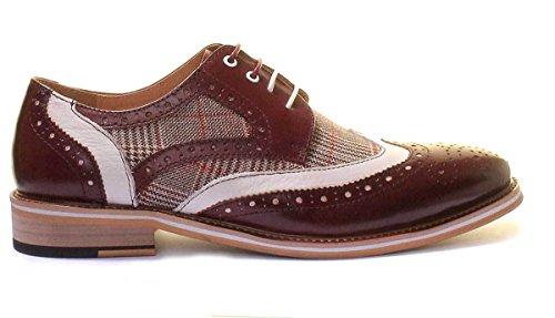 Justin Reece Manley, Chaussures de ville à lacets pour homme Bordeaux
