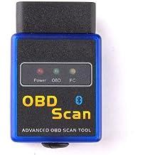tinxi® Vgate V1.5 mini OBD2 OBDII Bluetooth escáner adaptador de interfaz de equipos de pruebas de diagnóstico para BMW Asiento Ford etc muy adecuado para Torque Android App