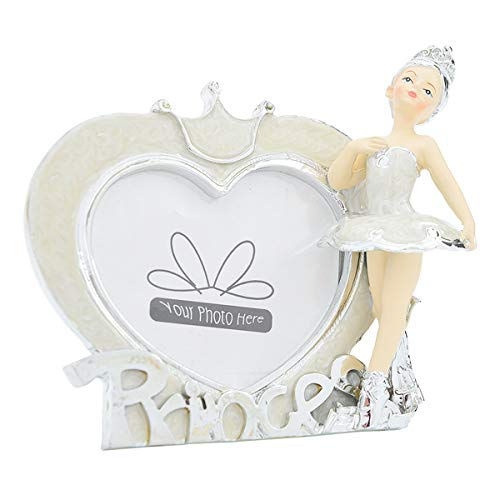 Bomboniere portafoto ballerina bimba battesimo comunione cresima argento