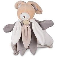 Preisvergleich für Doudou et Compagnie Fusseln und Kuscheltiere–Kuscheltier Handpuppe Hase–Das Collector–Blütenblätter Farbe: grau taupe weiß–Plüschtier 25cm–Art: Baby Mädchen oder Jungen