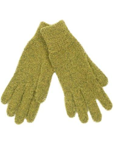 Peter Rutz–Doigts Gants Bouclé Gant–Couleurs assorties–Taille 7/One Size Vert