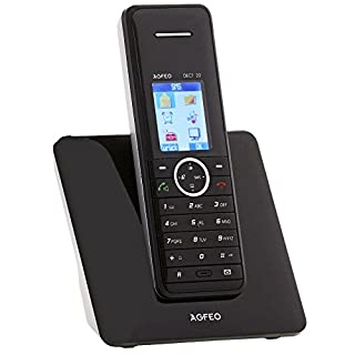 AGFEO DECT 22, Analogue Cordless Phone 1.8inch Colour Display, ECO Mode 200Phonebook, Call History For 30Calls, 8Short Options, Hands-Free Talking & Loud Listen, Telephone, Key Lock, Me